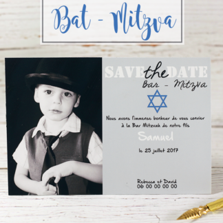 Faire part magnet Bar Mitzva